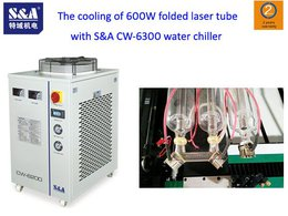 The cooling of 600W folded laser tube with S&A CW-6300 water chiller