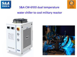 A military enterprise uses S&A CW-6100 dual temperature water chiller to cool military reactor