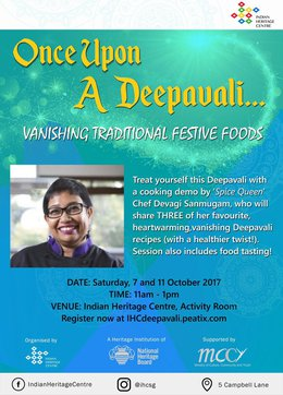 Join Chef Devagi in Making Vanishing Deepvali Festive Foods