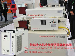 he cooling of Rofin 3-5W UV solid laser with S&A CW-5000 water chiller