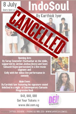 Tamil Concert Gets Cancelled
