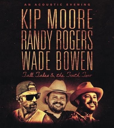 An Acoustic Evening with Kip Moore, Randy Rogers, and Wade Bowen