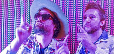 Michael Glabicki of Rusted Root with Dirk Miller