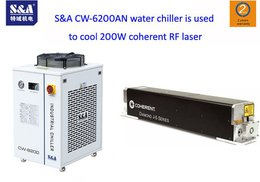 S&A CW-6200AN water chiller is used to cool 200W coherent RF laser