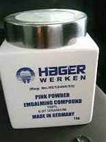 pink & white powder-100% 98% +27712909861 hager werken embalming ENGRAVED