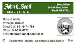 Trophy Ranches in Oregon Web Domain now Linked to Roland White Bend Real Estate Broker with John L Scott Real Estate