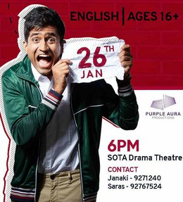 India's Top Stand Up Comedian Returns to Singapore