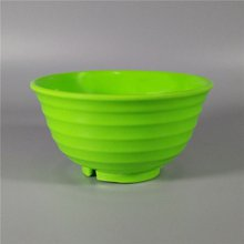 Green Solid Color Round Melamine Deep Noodle Bowl