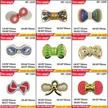 Butterfly Shape Shoes Clips 3D Shoes Ornaments With Rhinestone Bow Design Shoes Accessories With Pin