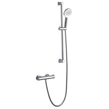 XDL Round Cool Surface Thermostatic Shower Set Adjustable AIR-IN Chrome Plating 8016A