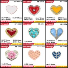 UV Electroplate Shoes Plastic Clips Flats Part Accessories Heart Shaped Shoes Decorative Buckle With