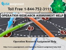 Operation Research Assignment Help | Assignment Expert