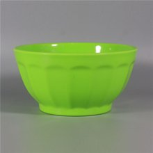Green Color Melamine Plastic Mixing Salad Soup Bowl