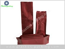 Degassing Valve Coffee Bags With Side Gusset Printed Red Matte Coffee Plastic Bags
