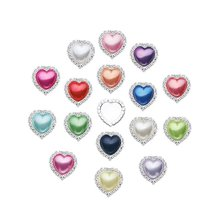 Heart Pearl Rhinestone Buttons