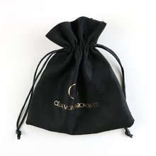 Black Polyester Eyeglasses/sunglasses Pouch With Drawstring Microfiber Pouch
