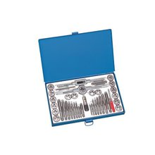 40 Pcs Professional SAE Tap And Die Set,Alloy Steel,Metal Case