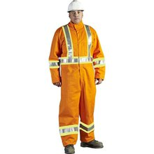 100% Cotton Hi Vis Industrial Workwear With Safety Fireproof Coveralls