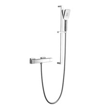 XDL Square Cool Surface Thermostatic Shower Set Adjustable AIR-IN Chrome Plating 8018A