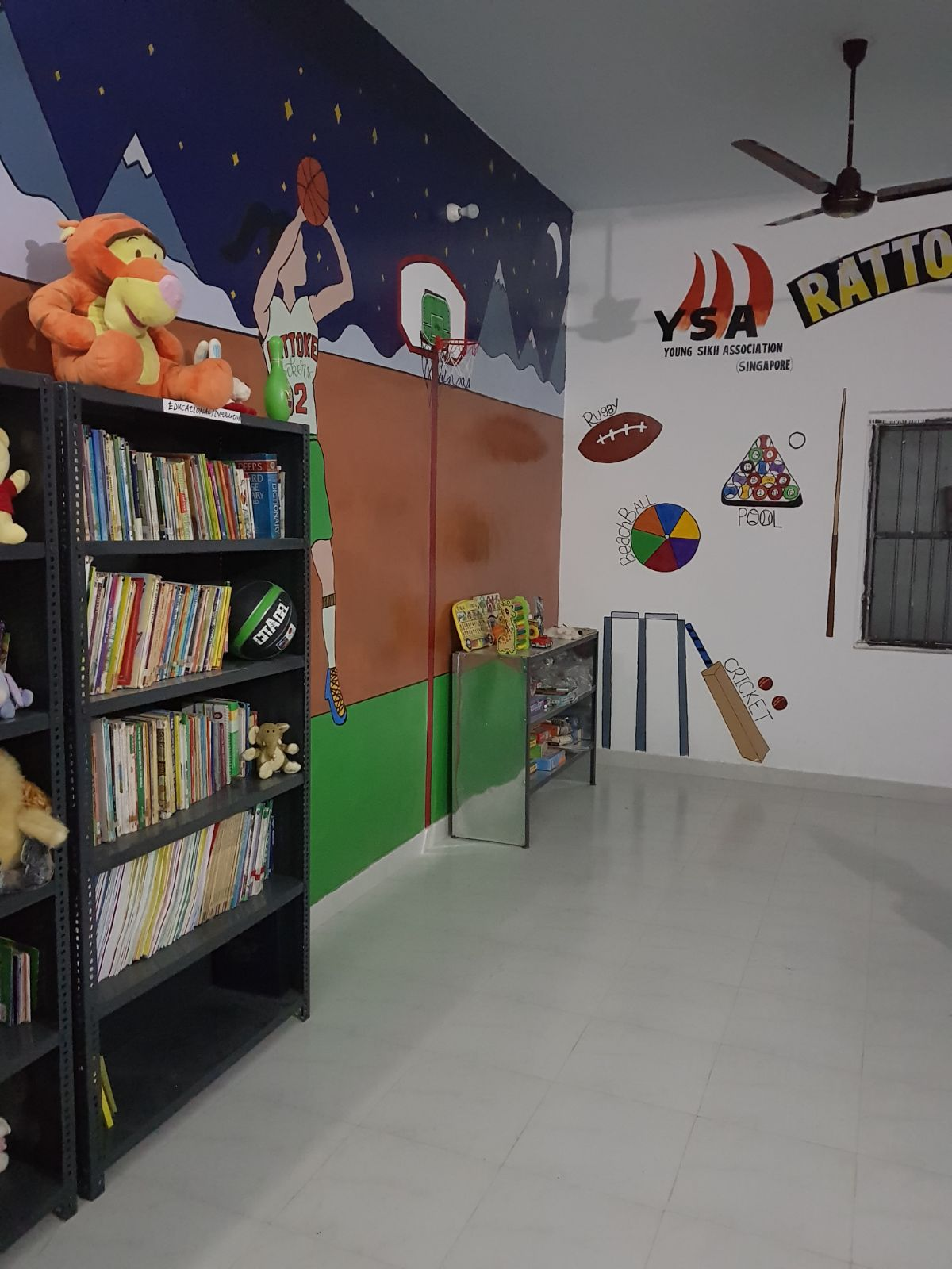 A brand new library with murals, books, furniture and other teaching aids for the teachers to use. Photo credits to YSA.